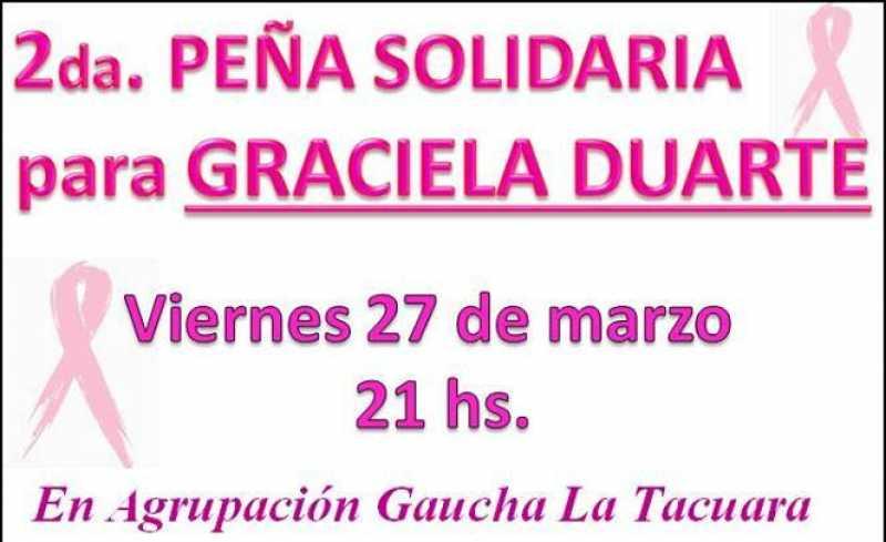 Nueva Peña Solidaria para Graciela Duarte