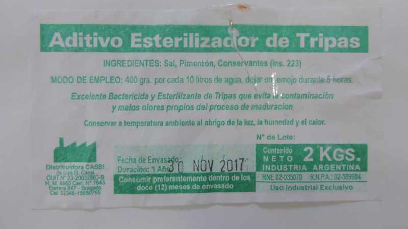 """LA ASSAL PROHIBIÓ UN """"ADITIVO ESTERILIZADOR DE TRIPAS"""""""
