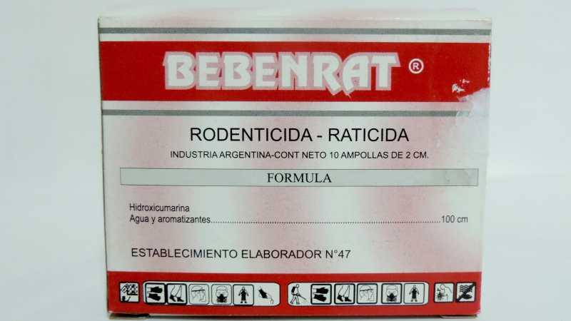 """LA PROVINCIA PROHIBIÓ LA COMERCIALIZACIÓN DEL PRODUCTO RODENTICIDA-RATICIDA MARCA """"BEBENRAT"""""""
