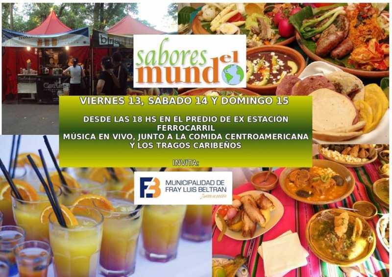 Sabores del mundo este fin de semana en Fray Luis Beltrán