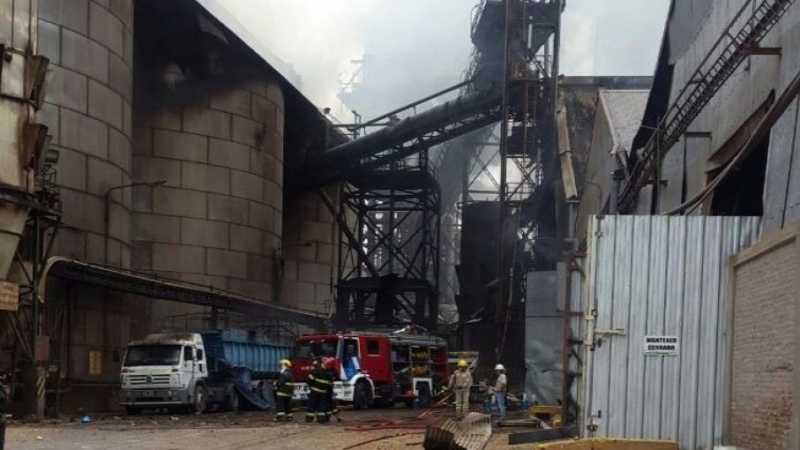 Viernes de paro en el Cordón Industrial tras la explosión en Cofco