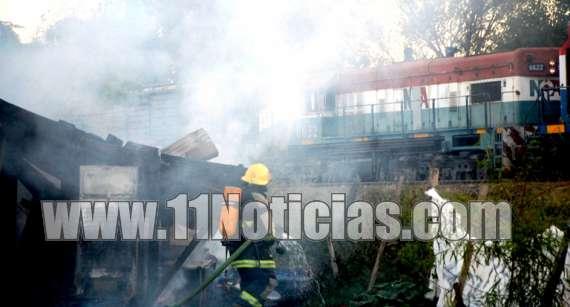 Incendio en una vivienda en Fray Luis Beltrán