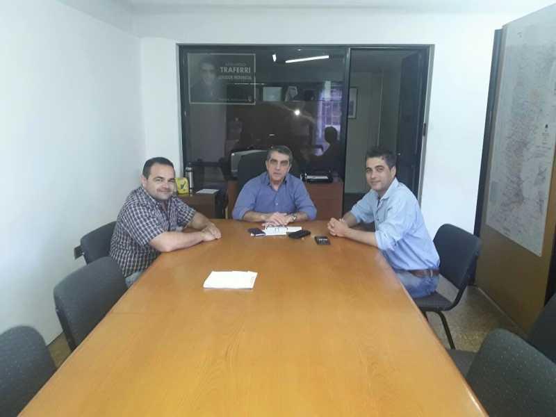 Reunión clave entre el Senador Traferri y el electo intendente de Fray Luis Beltrán Mariano Cominelli