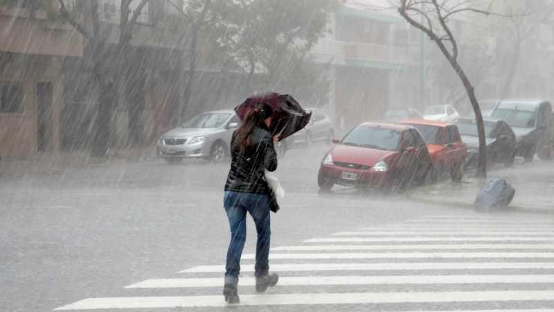 Rige un alerta meteorológico para el sur de Santa Fe