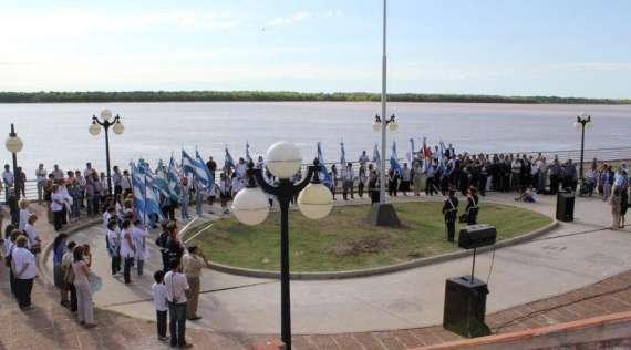 San Lorenzo celebró el bicentenario de la bandera