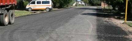 Trabajos de Pavimentación en Baigorria.