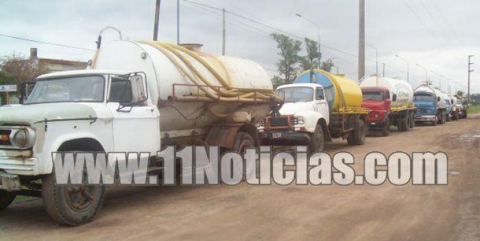 Ya está funcionando la nueva laguna para camiones
