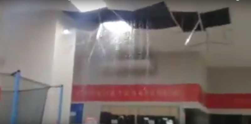 El nuevo local de Megatone completamente inundado (VIDEO)