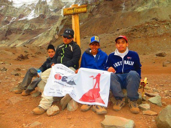 Un joven beltranence con autismo escaló en el Aconcagua