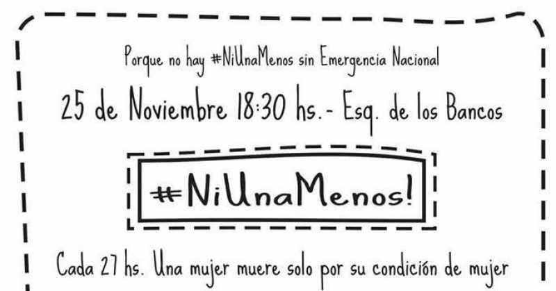 Marcha de #NiUnaMenos en el Día Internacional de la Lucha por la No Violencia contra la Mujer