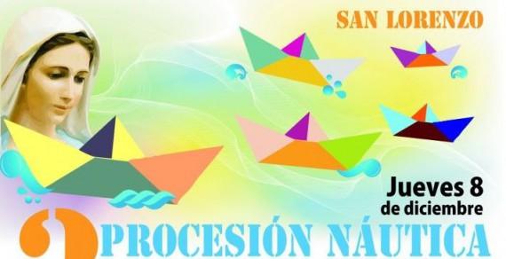 Tercera Procesión Náutica en San Lorenzo