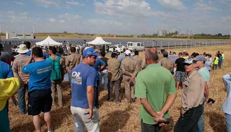 El conflicto de Oil Combustibles fue el principal protagonista en la Inauguración de la Planta Fotovoltaica de San Lorenzo