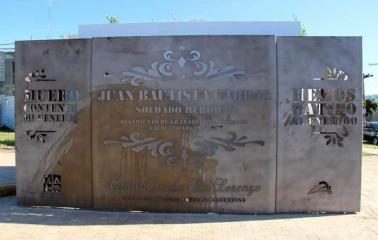 Vandalizan futuro monumento que homenajea a Sargento Cabral en San Lorenzo