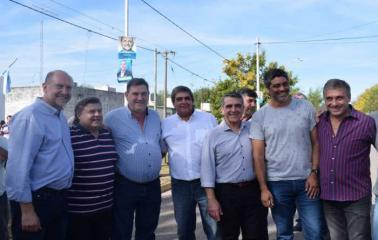 Traferri y Perotti visitaron las ciudades de Roldán y Carcarañá