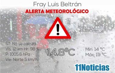 Se renueva el Alerta meteorológico para la región