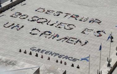 Los rosarinos se sumaron al reclamo de Greenpeace por la protección de los bosques