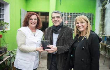 Traferri visitó y realizó nuevos aportes económicos a escuelas de San Lorenzo