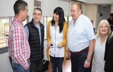 Traferri, Cominelli y Monasterolo visitaron Instituciones de Beltrán
