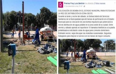 Beltrán: inyectarán agua de pozo para elevar la presión de la red