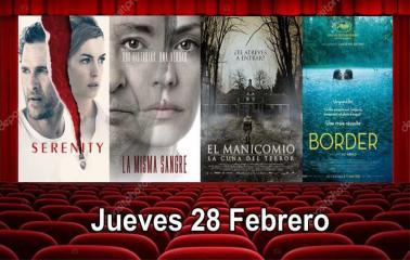 Estrenos de cine Jueves 28 Febrero
