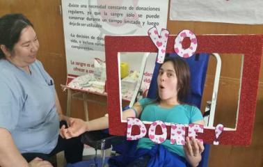 Caminata y colecta de sangre en la escuela 328 de Puerto San Martín