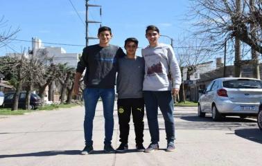 Tres jóvenes beltranences participarán  del mundial de futbol-tenis en Chile