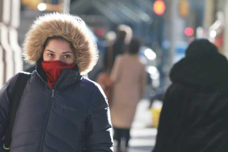 Irrupción de aire frío y descenso de temperaturas