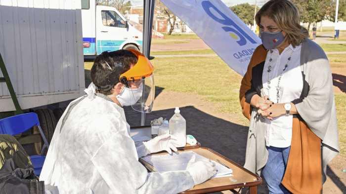 El gobierno de la provincia puso en marcha el plan detectar en la ciudad de Pérez