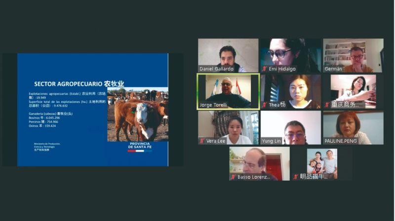 El gobierno gestiona videoconferencias comerciales entre empresas de Santa Fe y el exterior