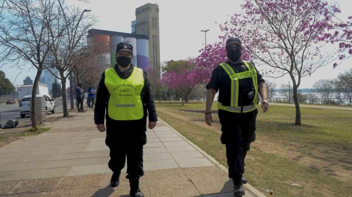Intenso operativo de control en Rosario por el Día de la Primavera