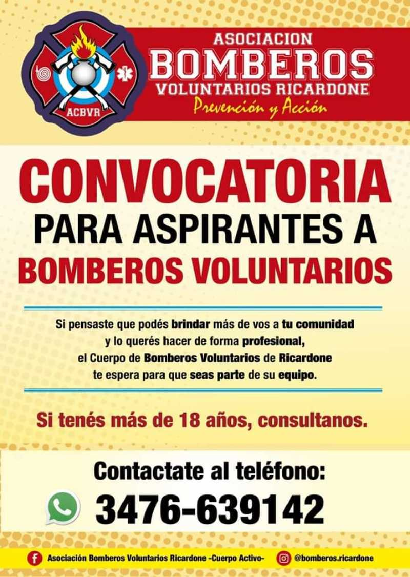 Convocatoria para bombero Voluntario