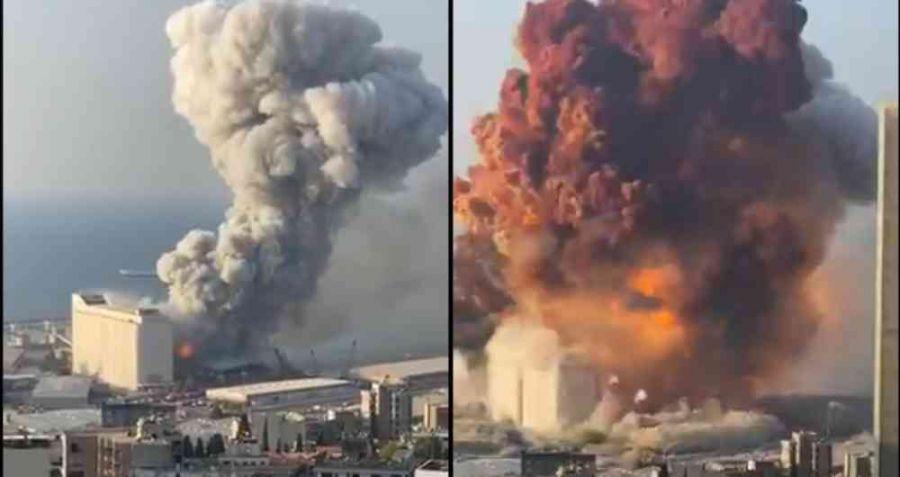 Impresionante explosión en Beirut VIDEO