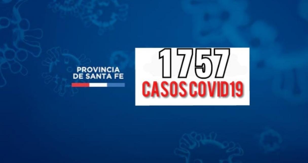 Santa Fe confirmó 1757 casos nuevos de Covid19