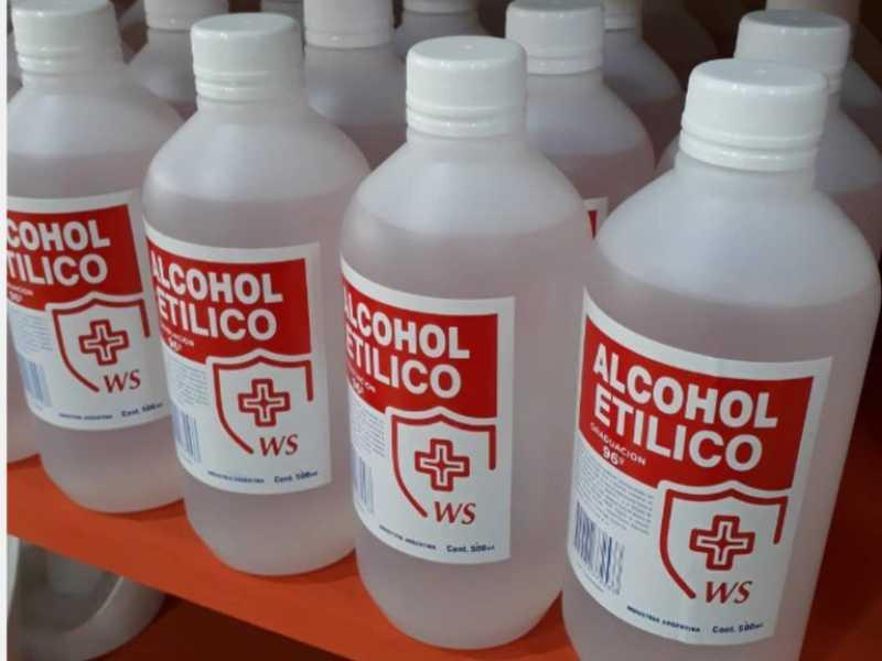 Prohibieron un alcohol etílico y un limpiador líquido desinfectante