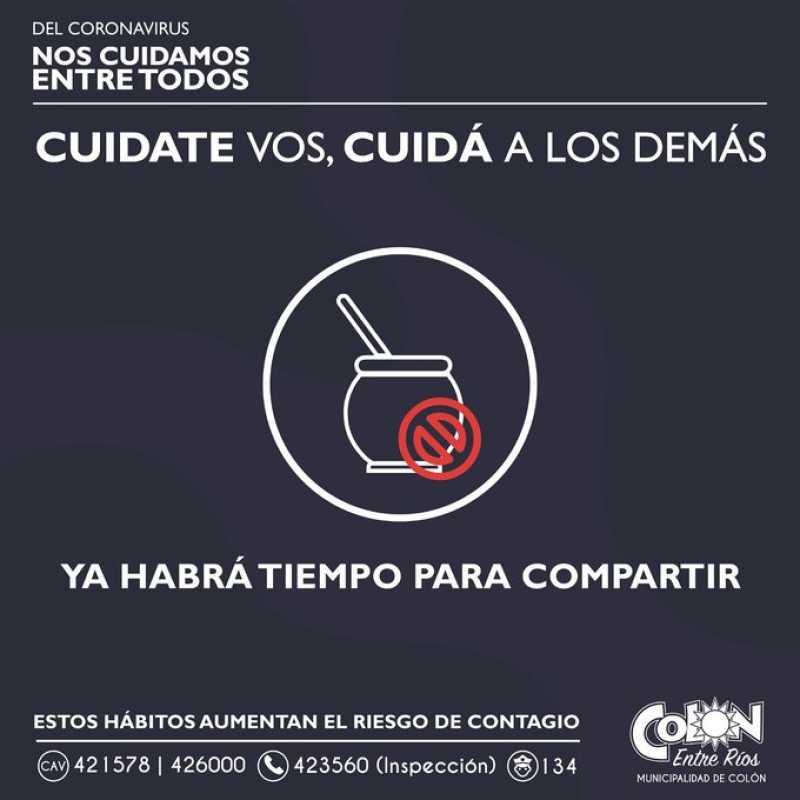 Una mateada generó un brote de coronavirus y Colón volvió a la fase 1