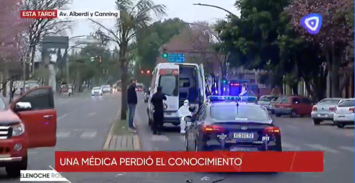 Por un accidente, Beltrán y Bermúdez se quedaron sin ambulancia del Sies