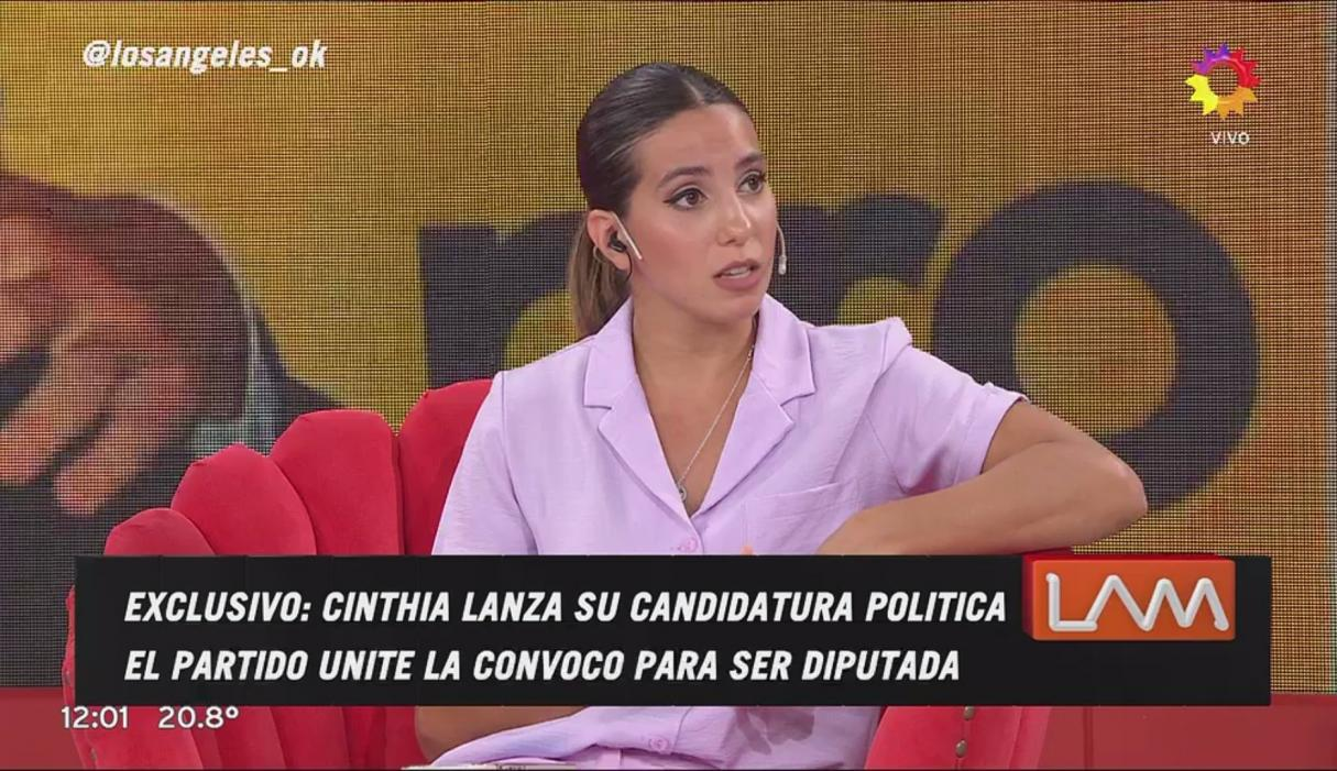 Cinthia Fernández confirmó que será candidata a diputada
