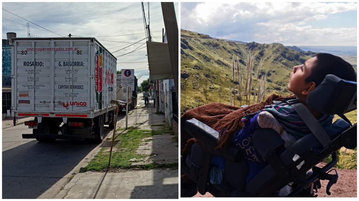 El papá del joven con parálisis cerebral pidió la prohibición del tránsito de camiones