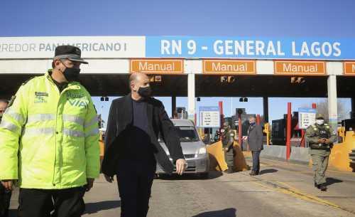 Perotti supervisó controles de acceso a la provincia