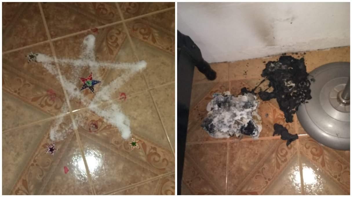 Baigorria: la encontraron muerta junto a una estrella de sal y objetos quemados