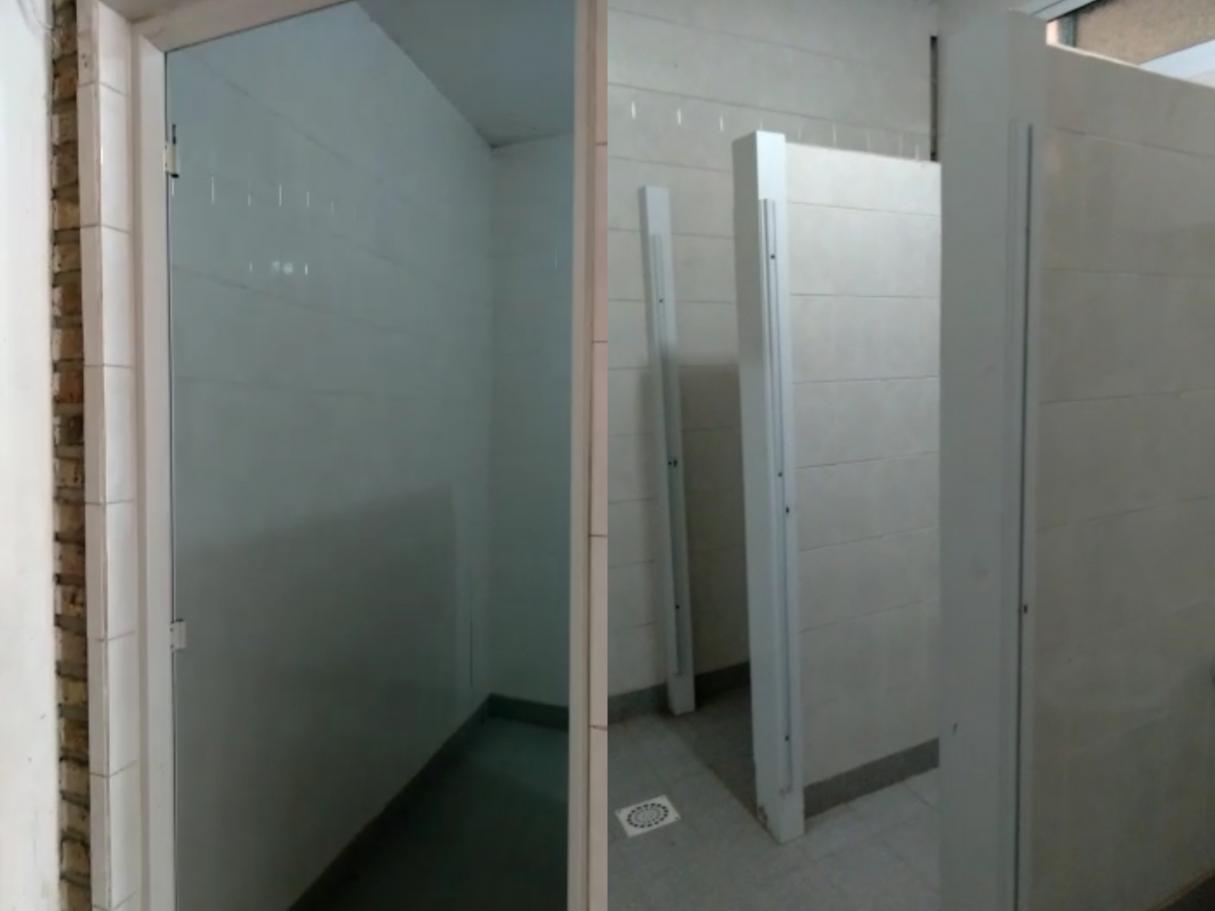 Robaron 7 puertas de los baños de un Centro de Jubilados de Bermúdez