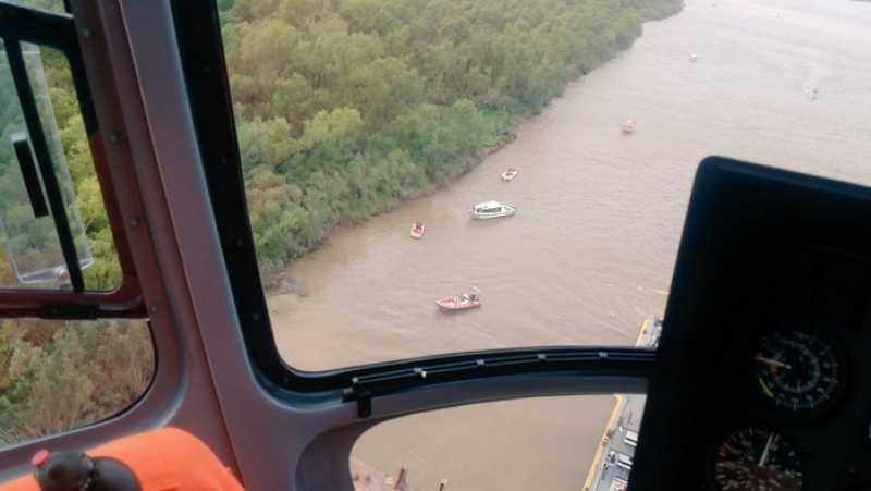 Habrían hallado el cuerpo de uno de los desaparecidos en el Paraná