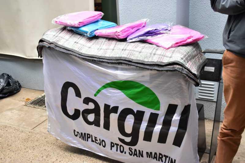 Cargill donó frazadas y kits de sanitización al municipio de Puerto