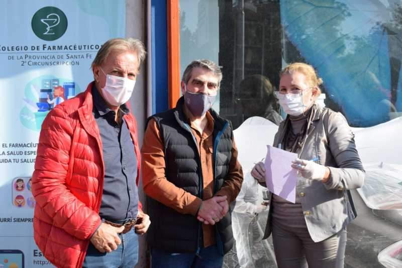 Traferri y el Colegio de Farmacéuticos trabajan en una campaña de detección de síntomas de Covid19