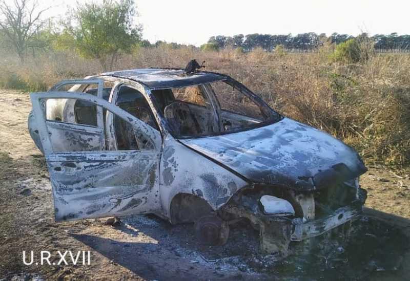 Beltrán: Le robaron el auto y lo incendiaron en el monte Chiezza