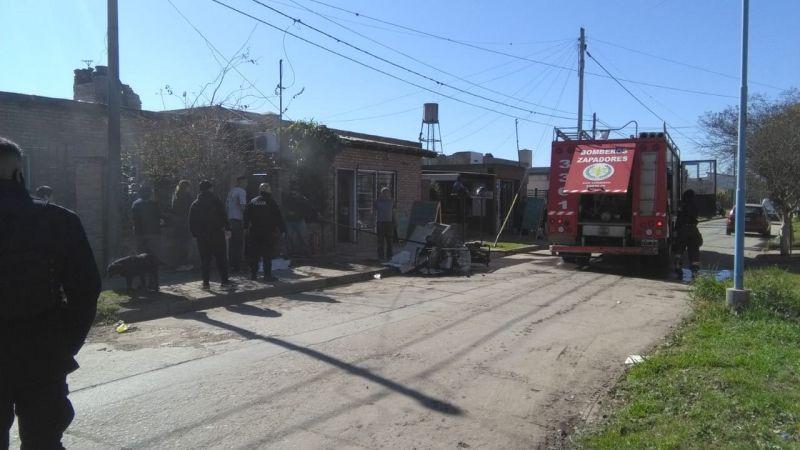 Principio de incendio en una vivienda de Fray Luis Beltrán