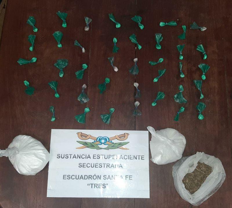 Gendarmería desarmó un bunker de drogas en Fray Luis Beltrán