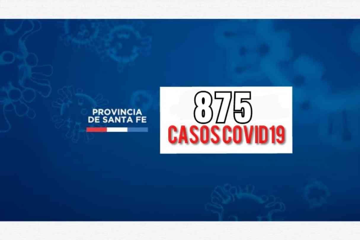 Domingo con 875 nuevos casos de Covid19 en la provincia