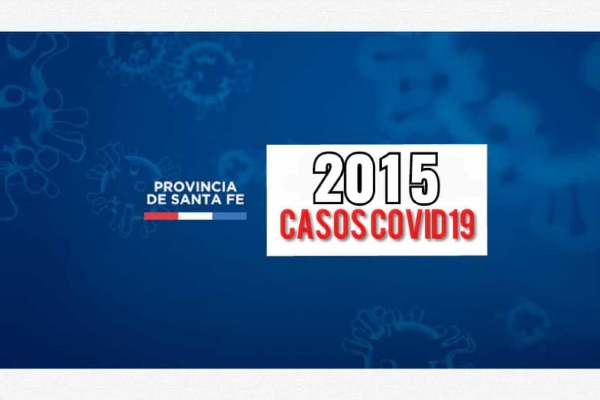 Santa Fe: La provincia reporta este miércoles 2015 casos de Covid19