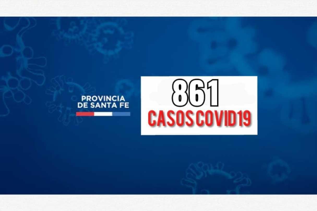 Santa Fe informó 861 casos de coronavirus este domingo